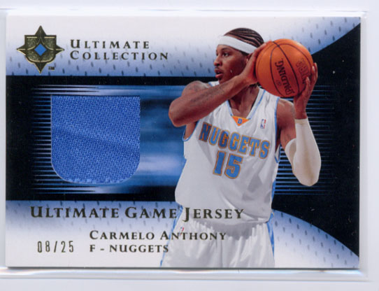 2005-06 Ultimate Collection Jerseys Gold #UJCA Carmelo Anthony