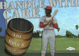 2004 Topps Chrome Handle With Care Bat Knob Relics 1 of 1 #LBR Lou Brock