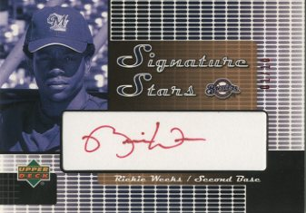 2004 Upper Deck Signature Stars Red Ink 2 #RW Rickie Weeks/10