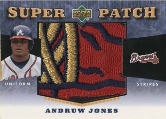 2004 Upper Deck Super Patch Stripes 2 #AJ Andruw Jones/52