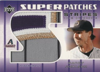 2004 Upper Deck Super Patches Stripes 1 #RJ Randy Johnson/30