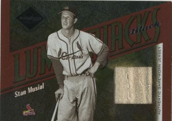 2003 Leaf Limited Lumberjacks Jersey Black #4 Stan Musial/5