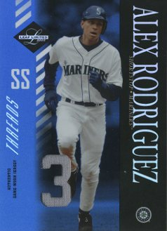 2003 Leaf Limited Threads Number #111 Alex Rodriguez M's H/3