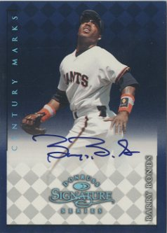 1998 Donruss Signature Autographs Century #12 Barry Bonds front image