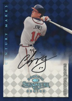 1998 Donruss Signature Autographs Century #65 Chipper Jones front image