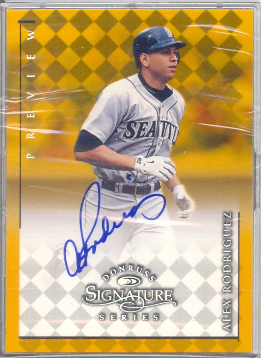 1998 Donruss Signature Series Previews #27 Alex Rodriguez/23 front image