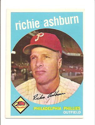 1959 Topps #300 Richie Ashburn front image