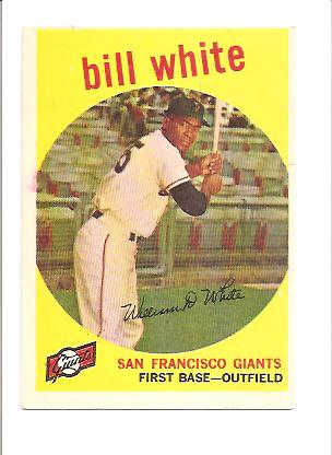1959 Topps #359 Bill White RC