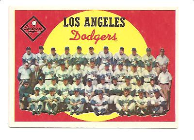 1959 Topps #457 Los Angeles Dodgers CL