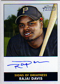 2007 Bowman Heritage Signs of Greatness #RD Rajai Davis E
