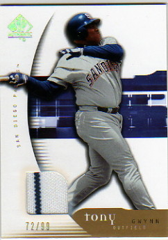 2005 SP Authentic Jersey Gold #93 Tony Gwynn