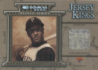 2004 Donruss Jersey Kings Studio Series #8 Roberto Clemente 02