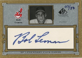 2001 SP Legendary Cuts Autographs #CBL Bob Lemon/23