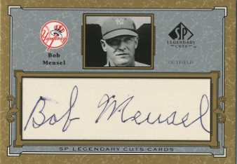 2001 SP Legendary Cuts Autographs #CBM Bob Meusel/23