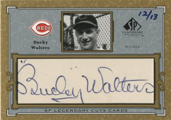 2001 SP Legendary Cuts Autographs #CBW Bucky Walters/13
