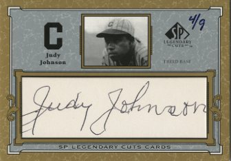 2001 SP Legendary Cuts Autographs #CJJ Judy Johnson/9
