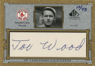 2001 SP Legendary Cuts Autographs #CJW Joe Wood/43