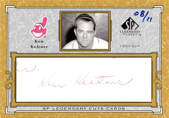 2001 SP Legendary Cuts Autographs #CKK Ken Keltner/11