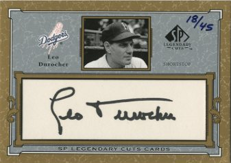 2001 SP Legendary Cuts Autographs #CLD Leo Durocher/45
