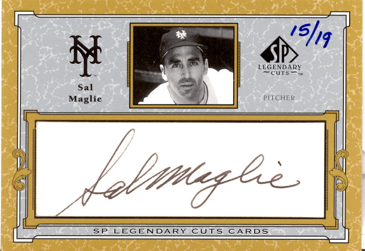 2001 SP Legendary Cuts Autographs #CSM Sal Maglie/19