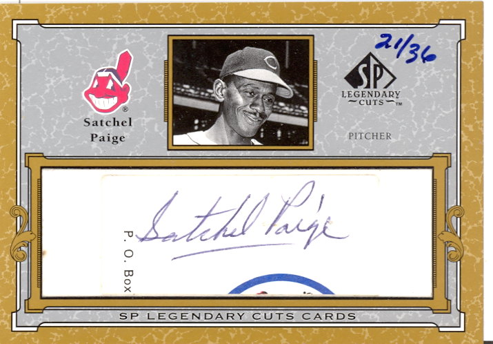 2001 SP Legendary Cuts Autographs #CSP Satchel Paige/36