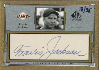 2001 SP Legendary Cuts Autographs #CTJ Travis Jackson/35