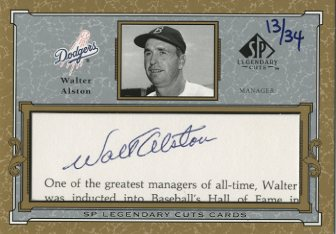2001 SP Legendary Cuts Autographs #CWA Walt Alston/34