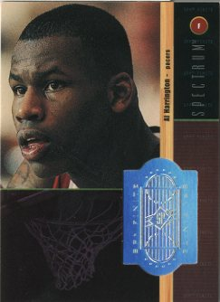 1998-99 SPx Finite Spectrum #235 Al Harrington front image