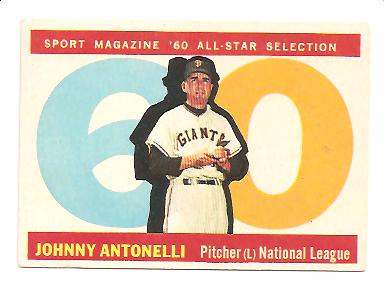 1960 Topps #572 Johnny Antonelli AS