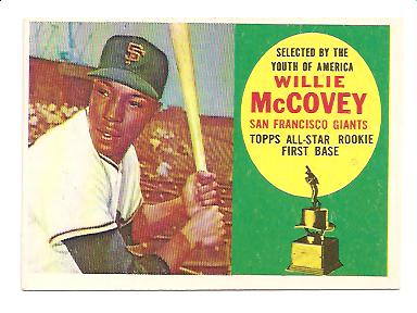 1960 Topps #316 Willie McCovey ASR RC EXMT Actual scan front image