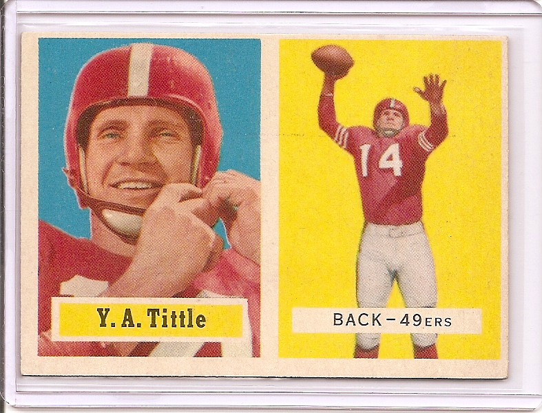 1957 Topps #30 Y.A.Tittle