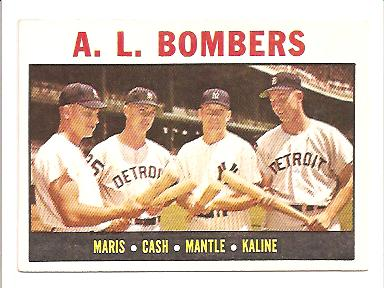 1964 Topps #331 Maris/Cash/Mantle/Kaline EXMT Actual scan front image