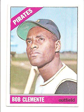 1966 Topps #300 Bob Clemente EXMT Actual scan front image