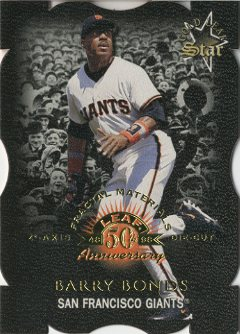 1998 Leaf Fractal Materials Z2 Axis #172 Barry Bonds GLS L front image