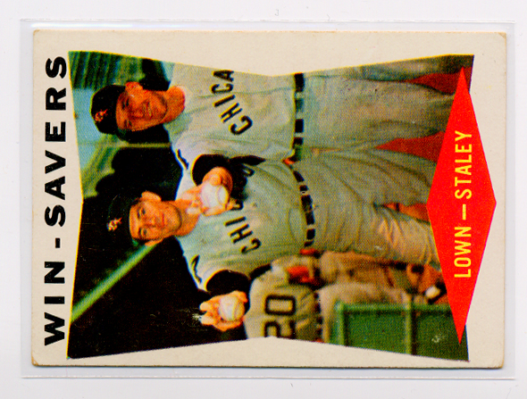 1960 Topps #57 Win Savers/Turk Lown/Gerry Staley