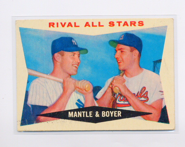 1960 Topps #160 Rival All-Stars/Mickey Mantle/Ken Boyer