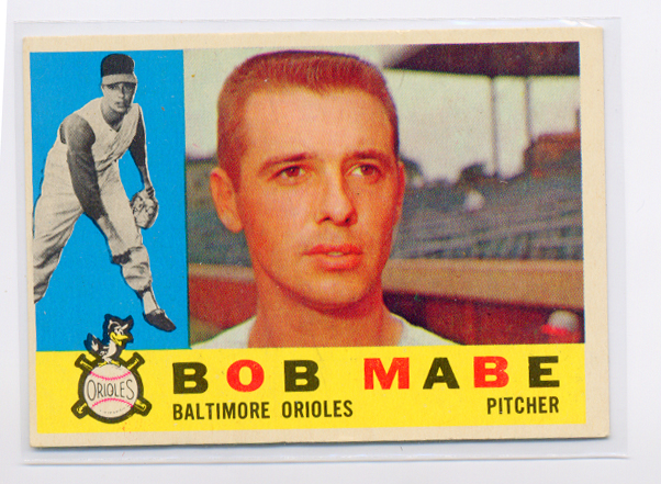 1960 Topps #288 Bob Mabe