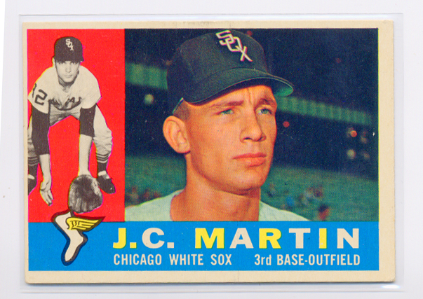1960 Topps #346 J.C. Martin UER RC/(Face actually/Gary Peters)