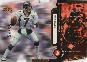 1998 Upper Deck Constant Threat Die Cut Bronze #CT7 John Elway front image