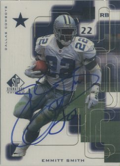1999 SP Signature Autographs Gold #ES Emmitt Smith