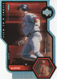 1999 Upper Deck View to a Thrill Quadruple #V23 Mark McGwire front image