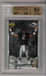2007 Upper Deck NFL Player of Jamarcus Russell BGS  9.5 RARE ROOKIE!