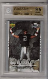 2007 Upper Deck NFL Player of Jamarcus Russell BGS  9.5 RARE ROOKIE!!