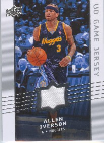 2008-09 Upper Deck Game Jerseys #GAAI Allen Iverson