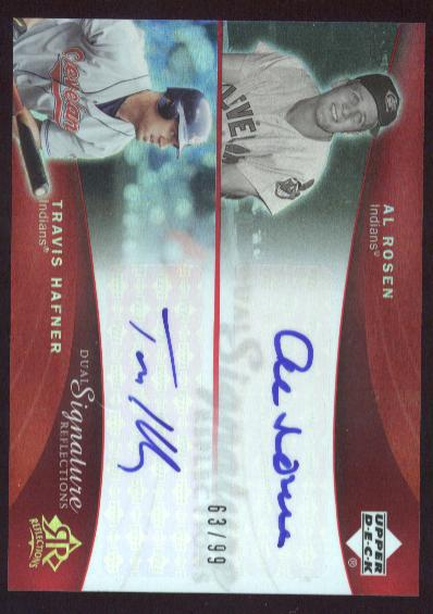 2005 Reflections Dual Signatures Red #ARTH Al Rosen/Travis Hafner