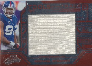 2008 Absolute Memorabilia Tools of the Trade Material Oversize Red #13 Michael Strahan