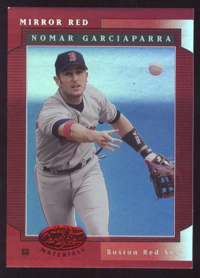 2001 Leaf Certified Materials Mirror Red #17 Nomar Garciaparra