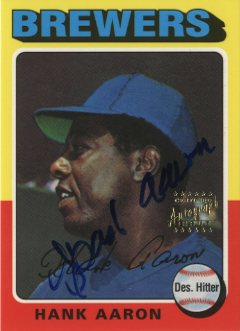 2000 Topps Aaron Autographs #22 Hank Aaron 1975