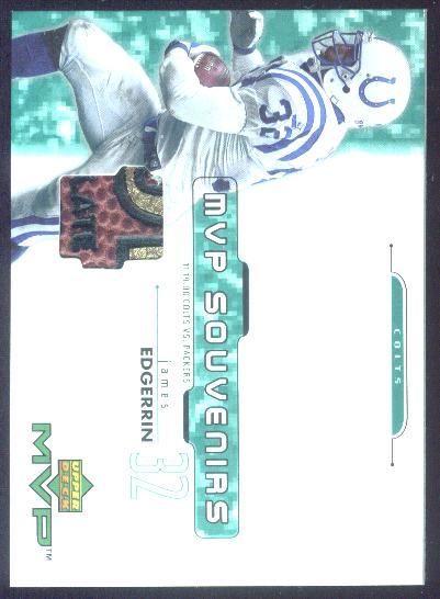 2001 Upper Deck MVP Souvenirs #EJ Edgerrin James