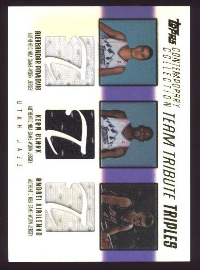 2003-04 Topps Contemporary Collection Team Tribute Triples #PCK Zoran Planinic/Keon Clark/Andrei Kirilenko